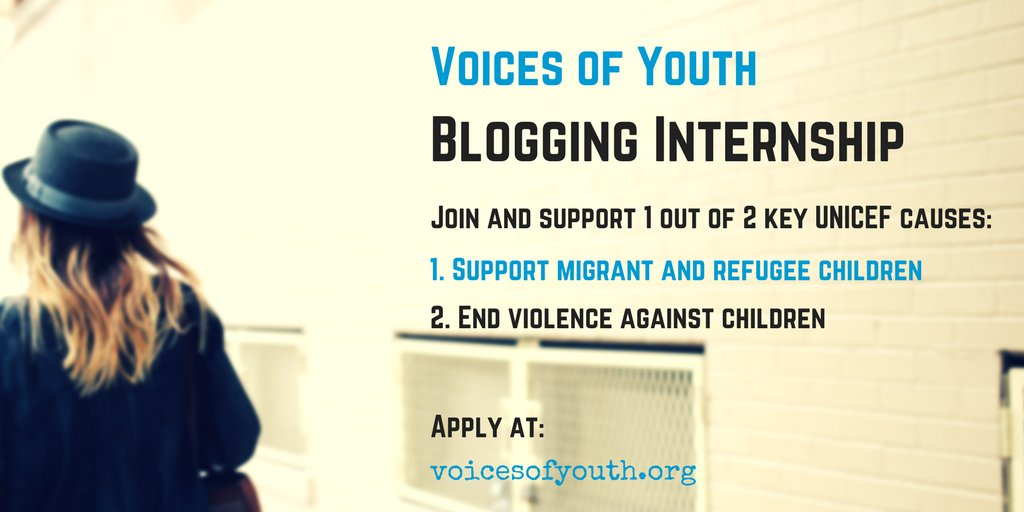 Applications for the awesome @voicesofyouth blogging internship programme NOW OPEN! Apply here https://t.co/vRMvVySwnr