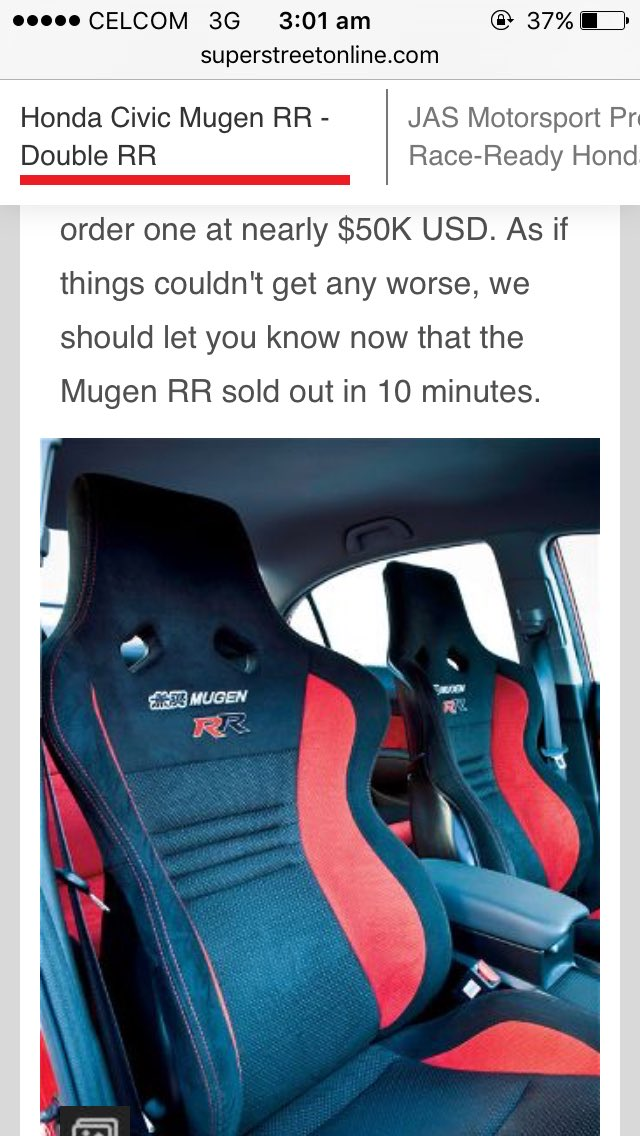 Perghh. Sold out in 10 minutes  #mugenrr #Mugen更新情報 #civic @MalaysianHonda<br>http://pic.twitter.com/GWjvdOqGSv