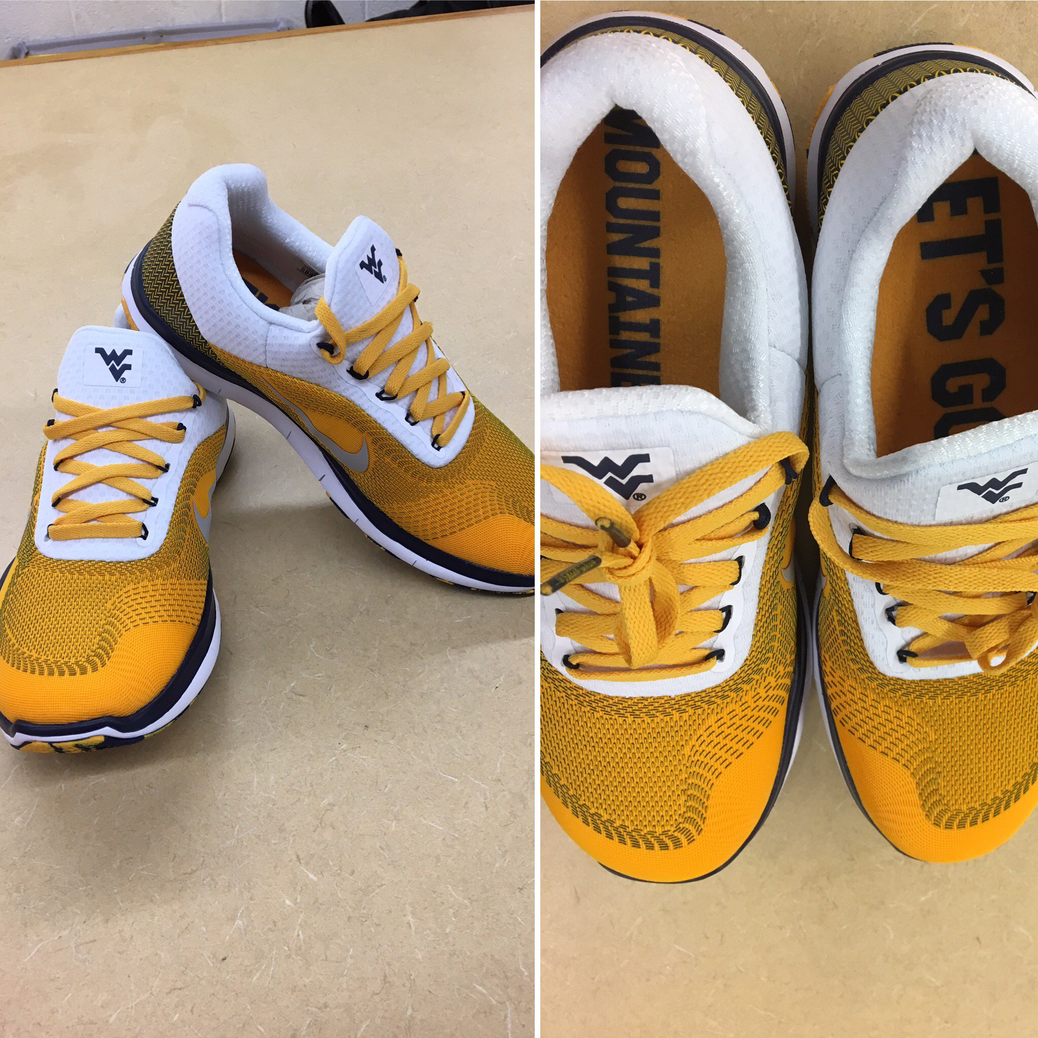"WVU Sports On Twitter: ""Check Out These #WVU Nike Shoes"