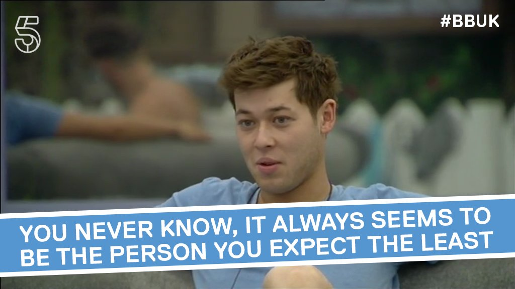 Always expect the unexpected. Especially in the Big Brother House. #BBUK https://t.co/dnHTHrRyfO