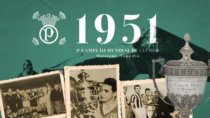Há 66 anos,no dia 22/07/51,no Maracanã,o Palmeiras consolidou a maior façanha d sua História;o título d campeão da.. https://t.co/chMMd3SB2r