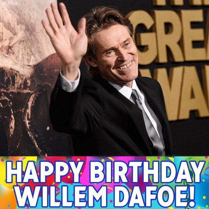 "Happy Birthday to \""Platoon\"" star Willem Dafoe!"