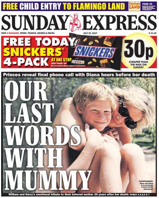 SUNDAY EXPRESS FRONT PAGE: 'Our last words with mummy' #skypapers