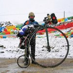 Around the world on a penny farthing #tourdefrance2017 #TourdeFrance https://t.co/rqYYXI6MZh