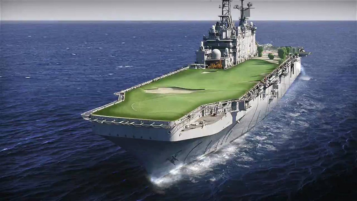 Concept picture of USS Donald J. Trump looks great.
