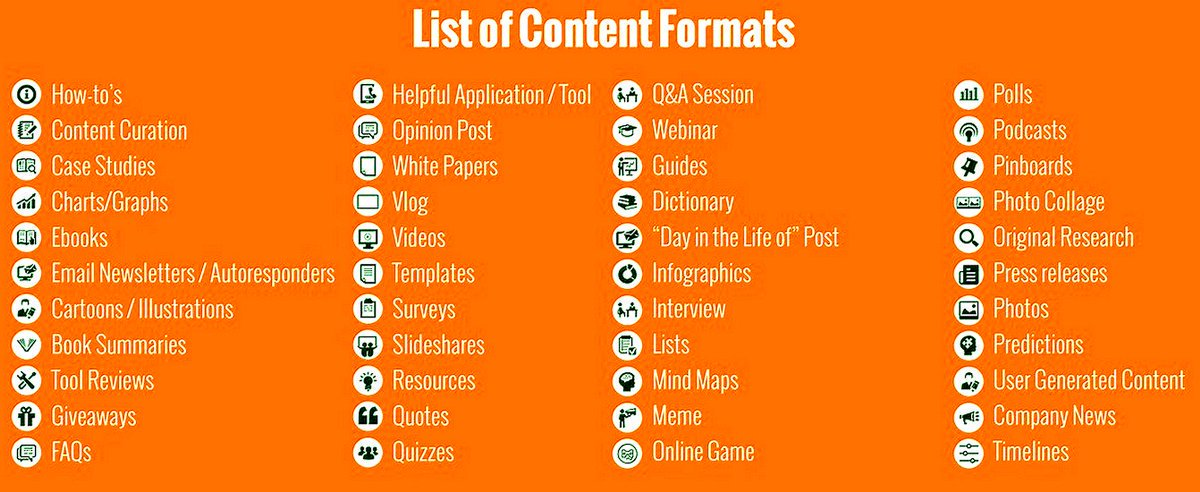 Useful List of 44 #Content Formats to Diversify Your #ContentMarketing [Infographic]  #DigitalMarketing #VisualMarketing #VideoMarketing <br>http://pic.twitter.com/qwspUlsC1H