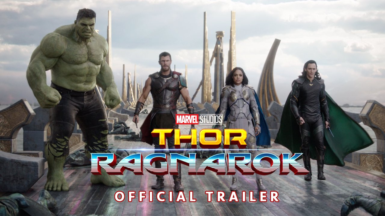 RT @MarvelStudios: Watch the brand-new #ThorRagnarok trailer that just debuted at #SDCC in Hall H! https://t.co/YzU9zGUz5M
