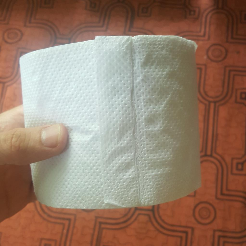 In Peru, the toilet paper rolls have bonus toilet paper in their holes #DontWasteAHole #value