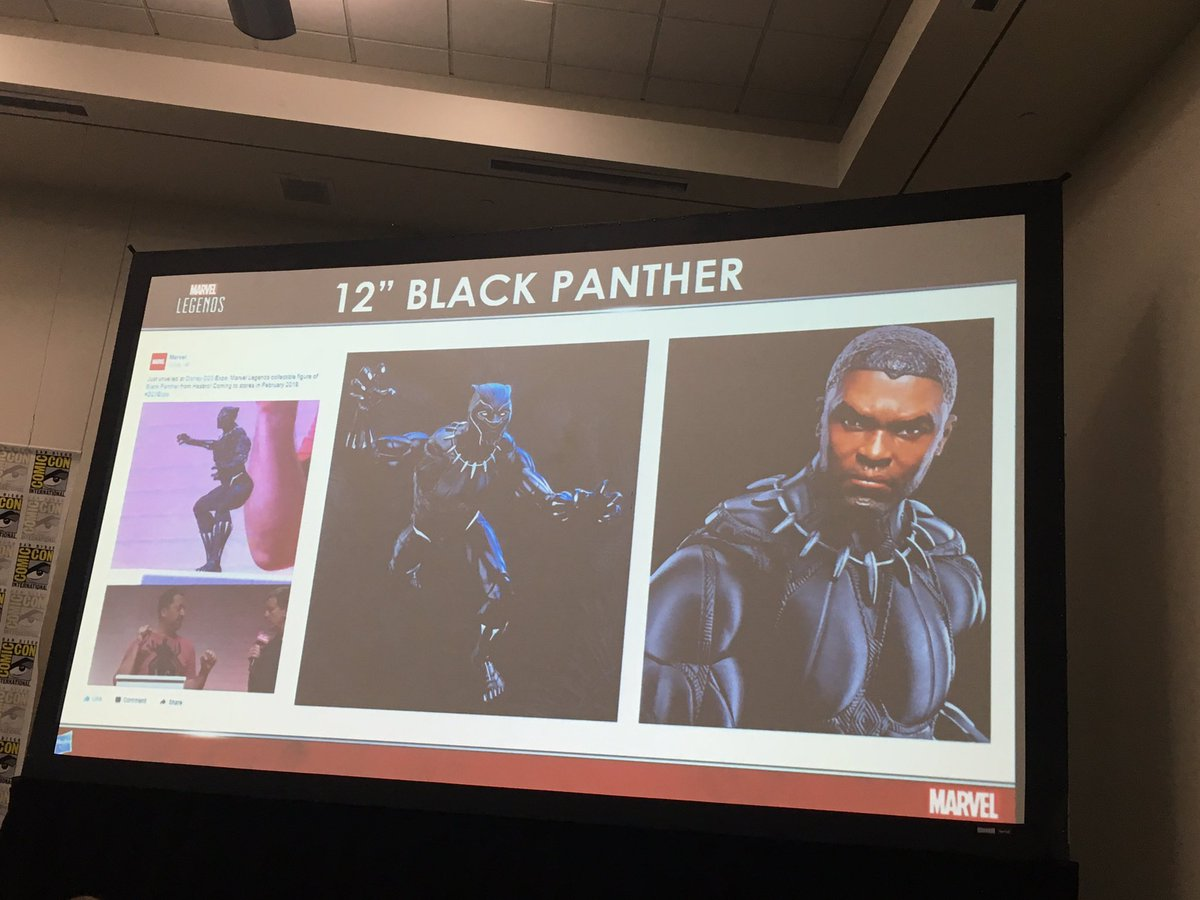 12-inch Black Panther figure was revealed last week at #D23expo. #MarvelHasbroSDCC<br>http://pic.twitter.com/5Zd4PPSJp9