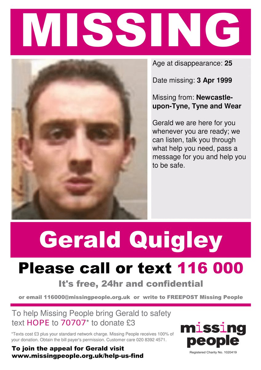 Gerald Quigley was 25yrs old when he went #missing in 1999 in #Newcastle  https://www. facebook.com/groups/damiens law/permalink/914851741999866/ &nbsp; …  #SundayShare #FindGeraldQuigley #DamiensLaw<br>http://pic.twitter.com/FWCr8vsvkJ