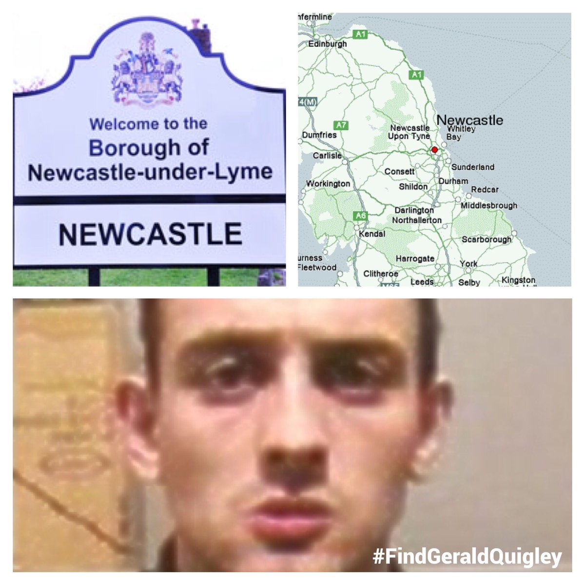 Gerald lived in #Newcastle after leaving army in 1999. Phone @northumbriapol on 101 ext 69191 #SundayShare #FindGeraldQuigley #DamiensLaw<br>http://pic.twitter.com/g8yc9HNKM6
