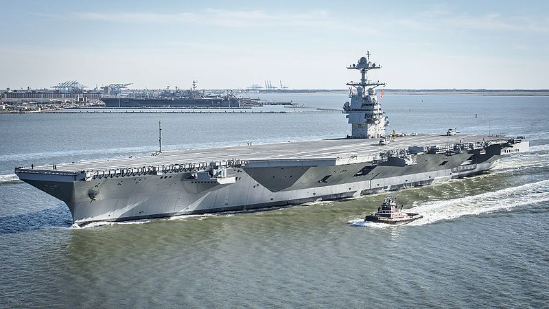 America's new aircraft carrier, the USS Gerald Ford, cost $12.8 billion.  That's more than the annual military budgets of 184 countries.