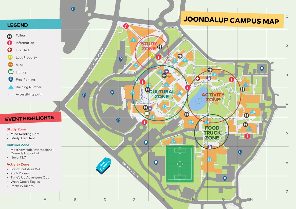 ecu main campus map Edith Cowan University Ecu On Twitter Coming To Our Joondalup Ecuopenday Today We Ve Marked Free Parking On Our Open Day Campus Map See You Soon D ecu main campus map