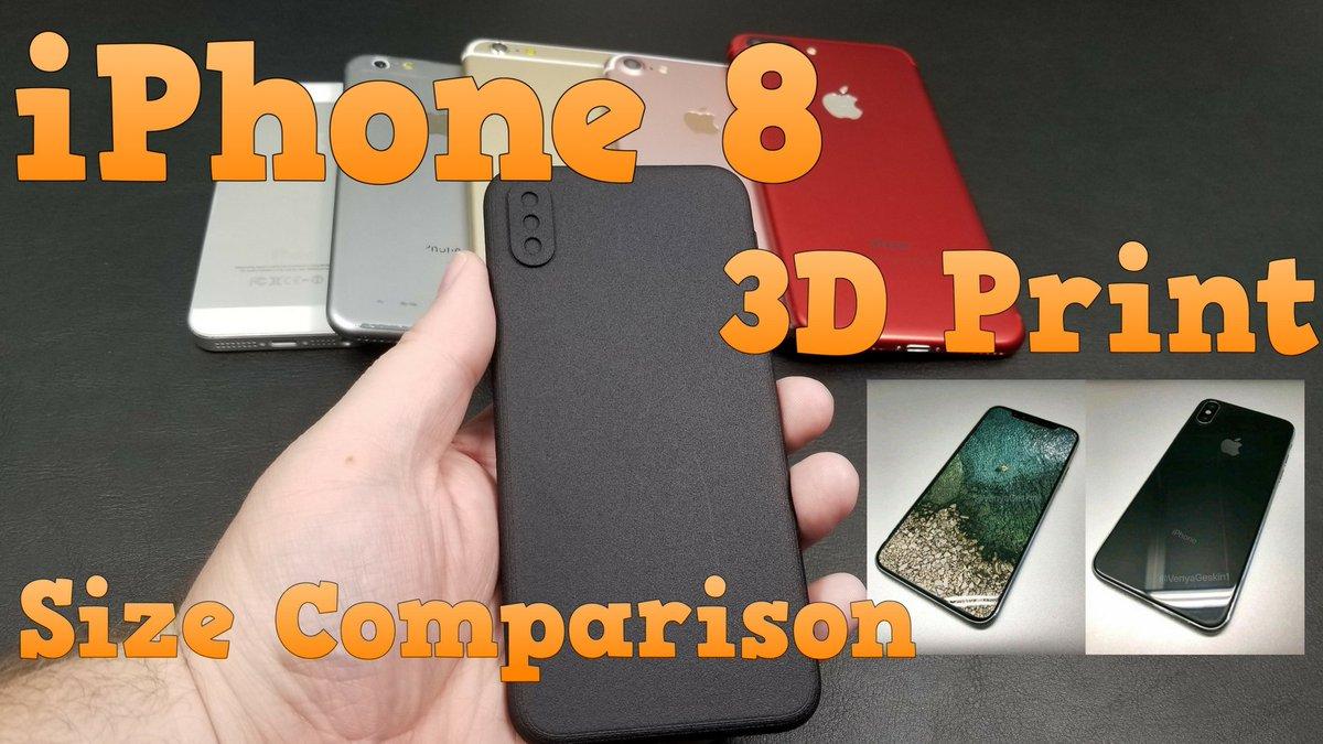 Watch my iPhone 8 size comparison video here   https:// youtu.be/2WJ1p_pvIms  &nbsp;   3D print via @VenyaGeskin1  #iphone8 #apple #iphoneEdition #iphoneX<br>http://pic.twitter.com/PGsrZfoN87
