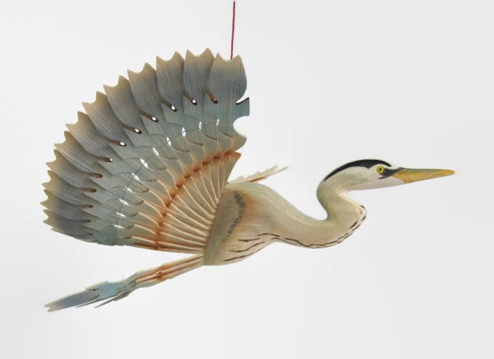 Great Blue Heron Bird Mobile Fan Carving Hand Carved  http:// etsy.me/2s6j1r6  &nbsp;   via @Etsy #woodenbird #WoodCarving  #RT #boebot #Retweettrain <br>http://pic.twitter.com/VWljg6Vfdr