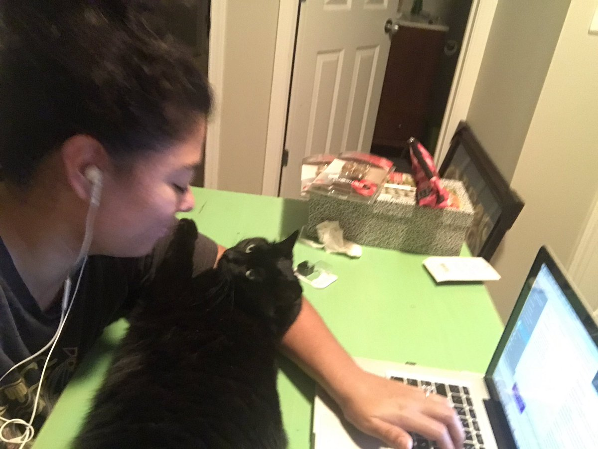 When your cat crashes your Saturday night writing. #writinglife #amwriting #Caturday #cats #blackcats<br>http://pic.twitter.com/6yrpWLMRwZ