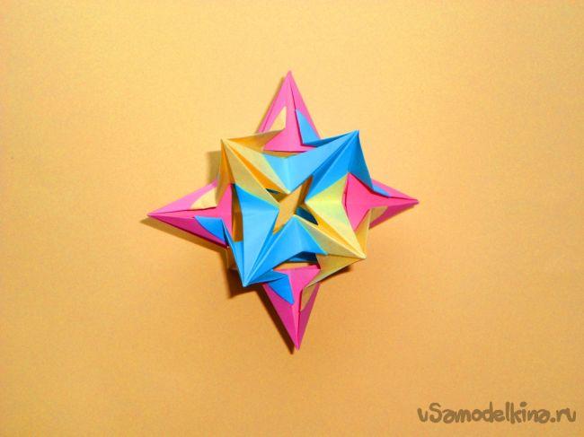 Модульное оригами схема сборки ежика