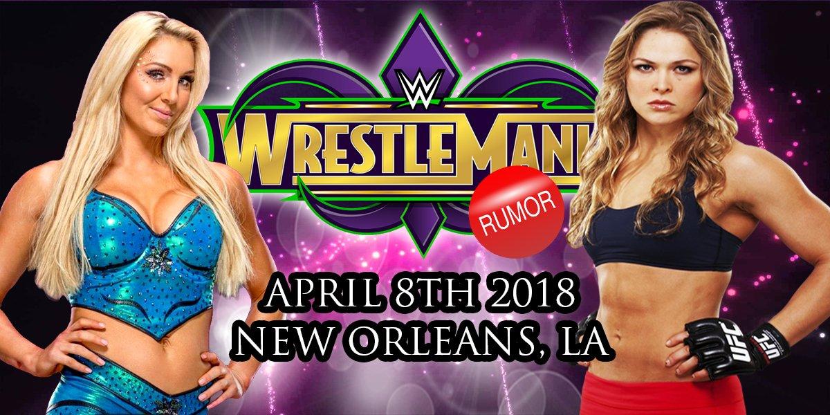 Possible !! Ronda @RondaRousey Charlotte @MsCharlotteWWE #Wrestlemania 2018 #neworleans #WWE @WWE pic.twitter.com/y7Sts6W9oC