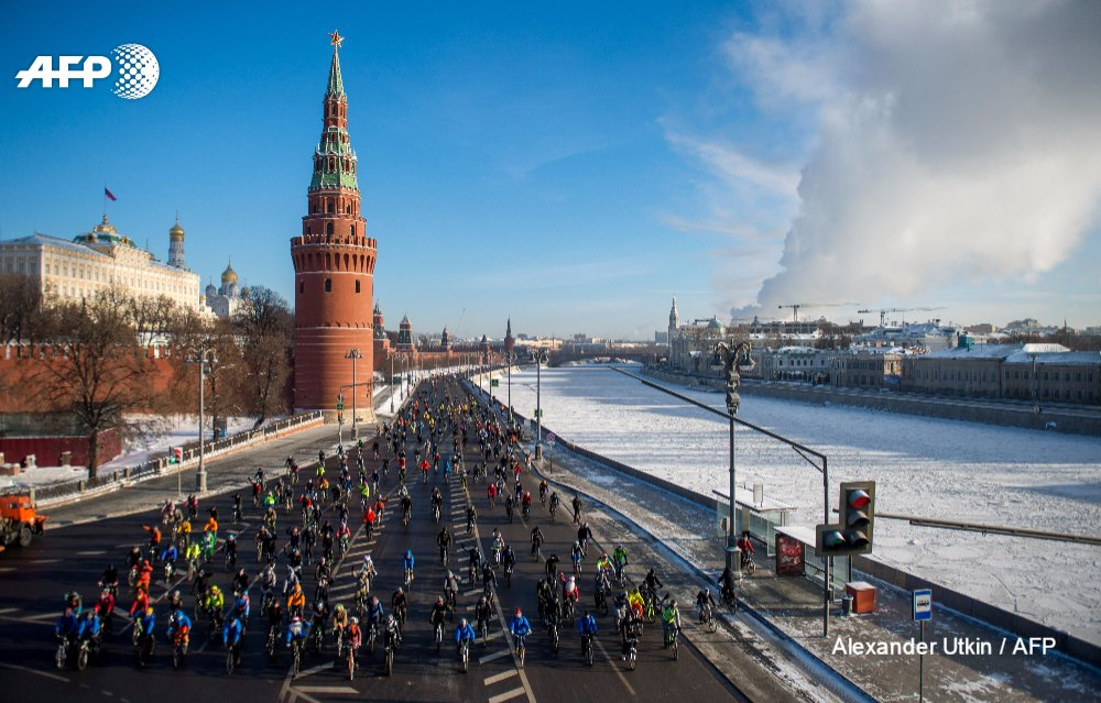 Pedal power sways Muscovites, undeterred by busy roads that are a battleground for cyclists https://t.co/w1yqOqUD3K