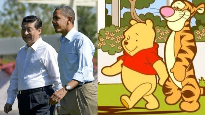 Winnie the Pooh is now banned in China for resembling President Xi Jinping https://t.co/o5rFYu9lQQ