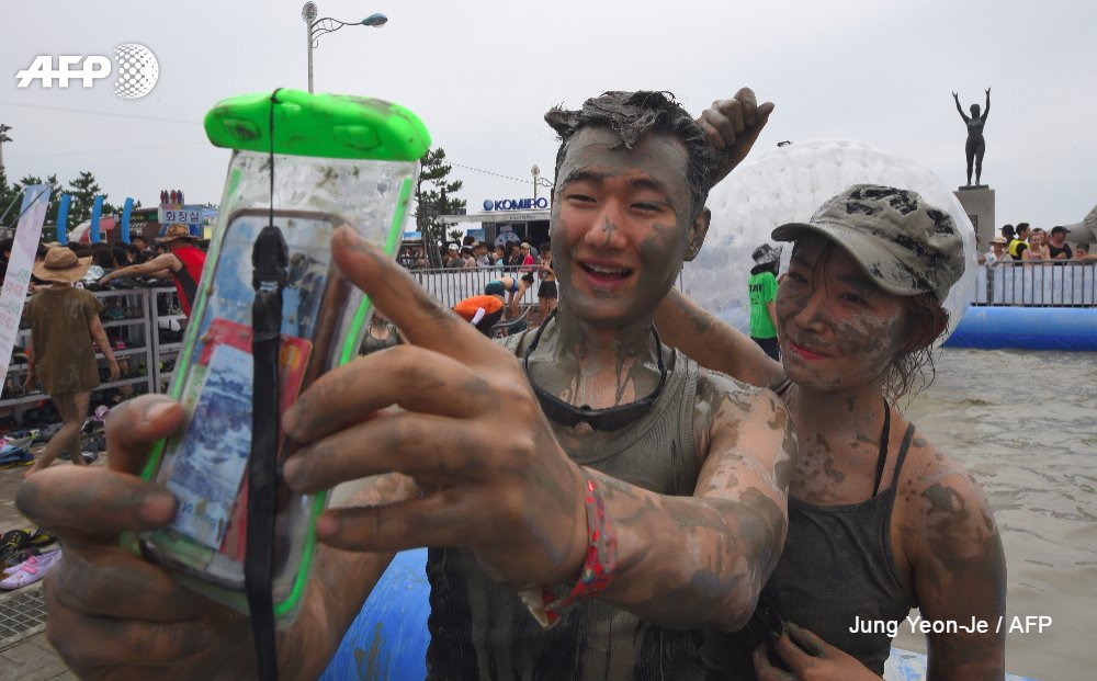 Mud fights and slides at the Mud Festival in Boryeong https://t.co/WYNKxxjxTN