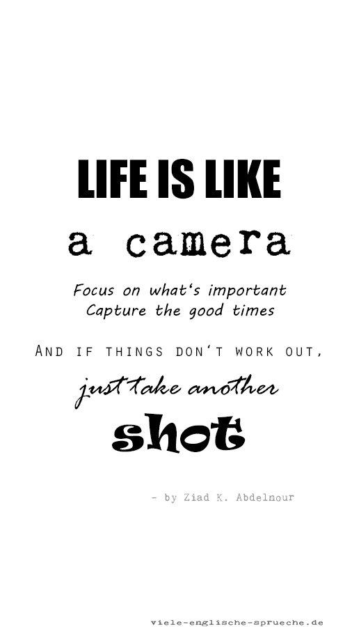 Life Is Like A Camera Focus On Whats Important Capture