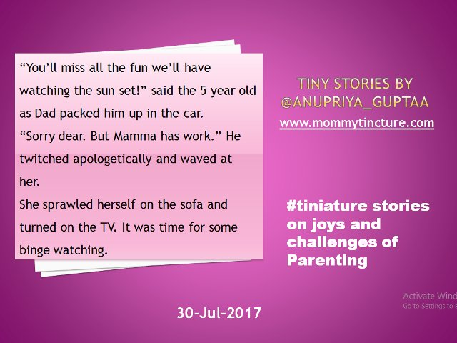 @gayatri_gadre #tiniature #TinyStory My story for the day. Can't wait for tomorrow. #momlife https://t.co/D2ZCiFQEZB