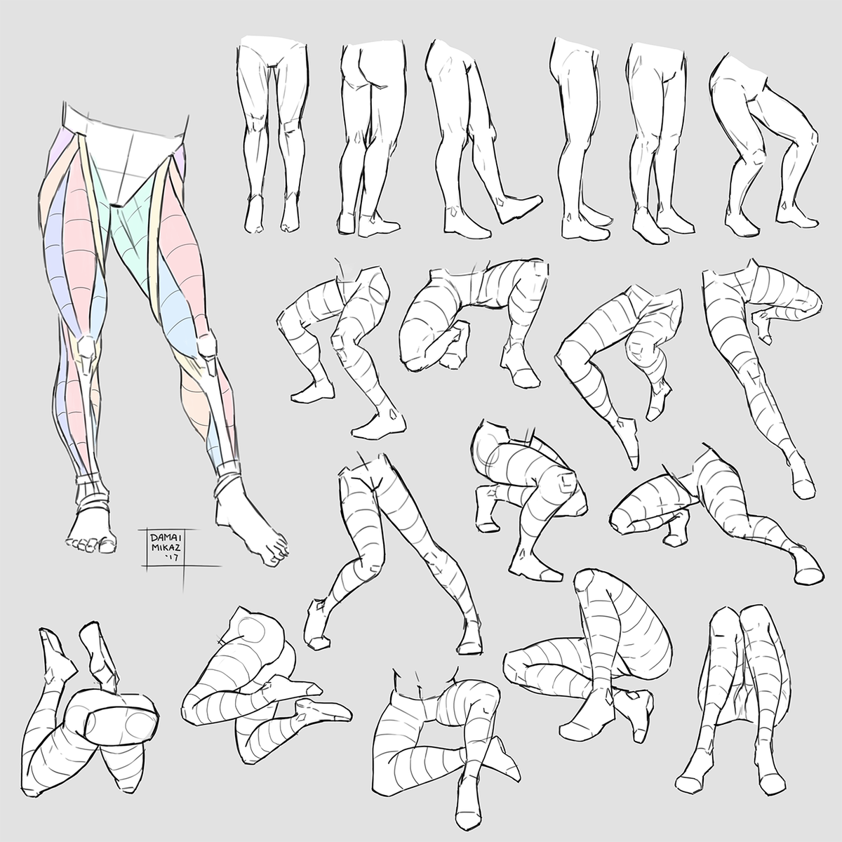 Damai Mikaz On Twitter Anatomy Practice Just A Bunch Of Legs And