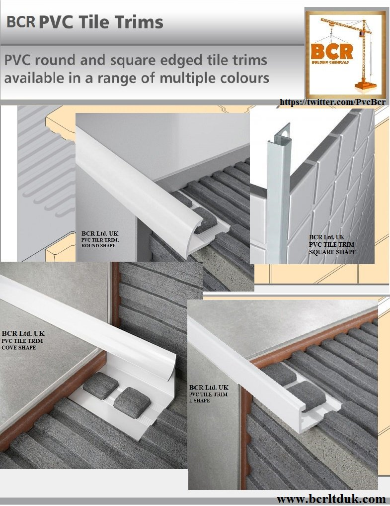 BCR PVC Tile Trim On Twitter BCR Pvc Tiletrim We Custom Made Pvc - Ceramic tile trim shapes