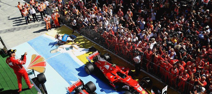 Formula 1: trionfo Ferrari in Ungheria. Vettel Raikkonen e Bottas sul podio, 6° uno strepitoso Alonso