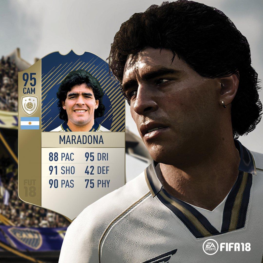 FIFA 18 reveló las estadisticas de Diego Maradona