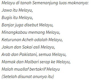 The Patriots On Twitter Ini Puisi Usman Awang Minangkabau Sakai Bugis Dan Lain Lain Ada Disebut Di Dalam Ini