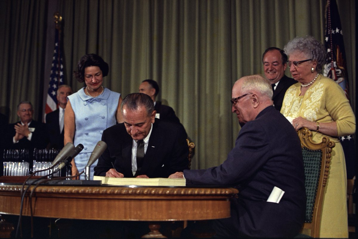 Today in 1965, Lyndon B. Johnson signed Medicare & Medicaid into law. We must strengthen and expand, not slash, them.