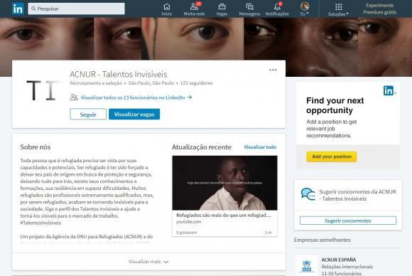 Acnur cria site com qualificações de refugiados que buscam emprego no país https://t.co/Dvq0kgYu1P (📷 Reprodução Talentos Invisíveis)