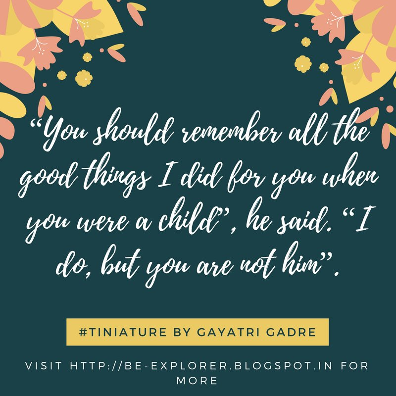 #Tiniature.  To participate- 1.RT 2.reply with ur #TinyStory 3.use #Tiniature #tinystories #microstories #tinytales #amwriting #BeingAuthor https://t.co/lUrSj7EoHi