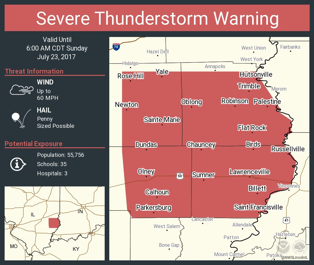 nws lincoln il on twitter severe thunderstorm warning. Black Bedroom Furniture Sets. Home Design Ideas