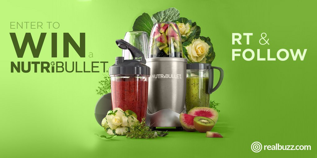 RT and Follow and you could #win a Nutri Bullet blender this July in our #competition #giveaway   #realbuzzNutri #fitness <br>http://pic.twitter.com/TWOHq638BE