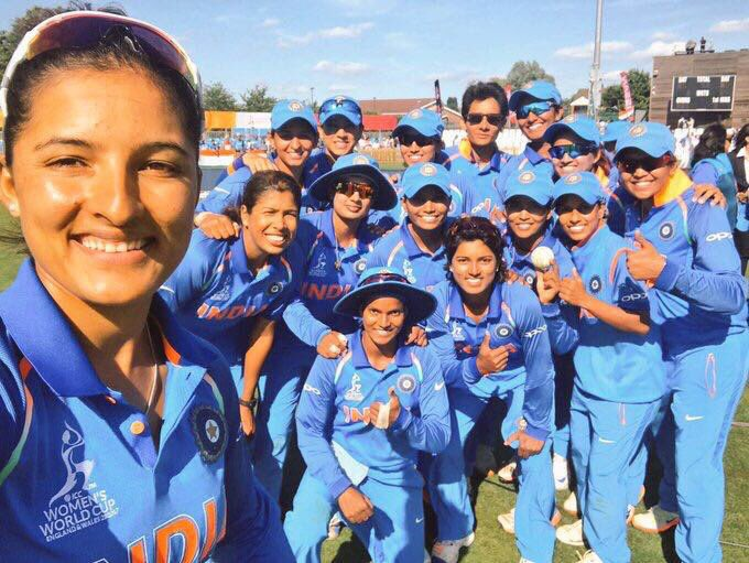Our #WomenInBlue have strived hard and reached the #WWC17Final! All the best to the @BCCIWomen for today's match. 👍 https://t.co/b8UAfH0aBY