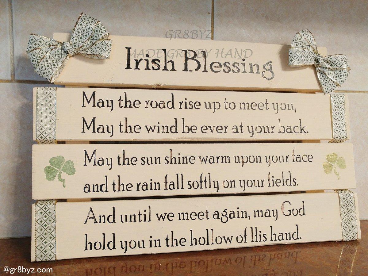 Irish Blessing wall hanging  https:// seethis.co/mZW13/  &nbsp;   #wood #allyouneedisloveandadog<br>http://pic.twitter.com/z8hYKpi0mo