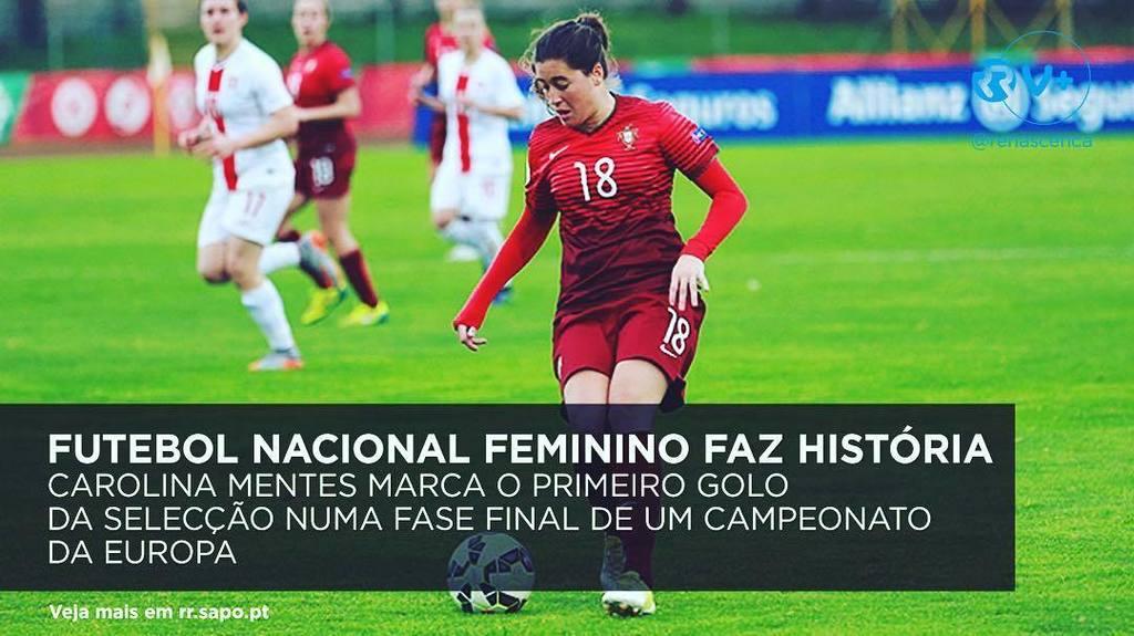#Futebol nacional feminino faz hoje história pelos pés de Carolina Mendes #Portugal https://t.co/tl1PxF92iy