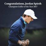 Image for the Tweet beginning: Congratulations to @JordanSpieth on winning