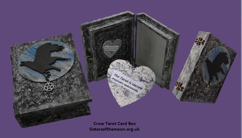 Love Crows? #Crow #Tarot #Card #Box now on the website. Can be personalised.   http:// bit.ly/2pCoWT6  &nbsp;    #87RT #UKHashtags<br>http://pic.twitter.com/sKXgqZgRZX