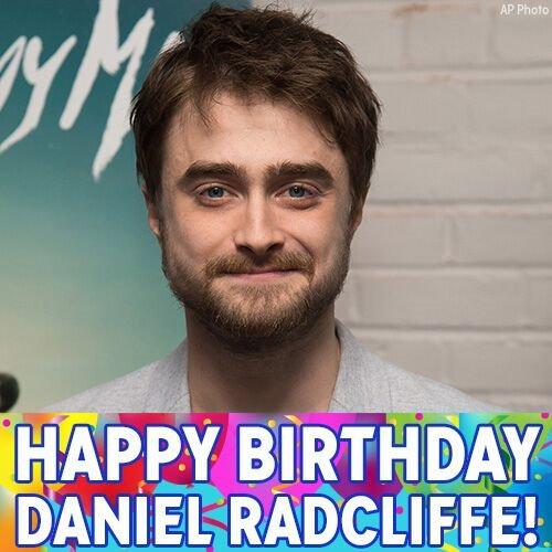 Happy Birthday to Mr. Harry Potter, Daniel Radcliffe!