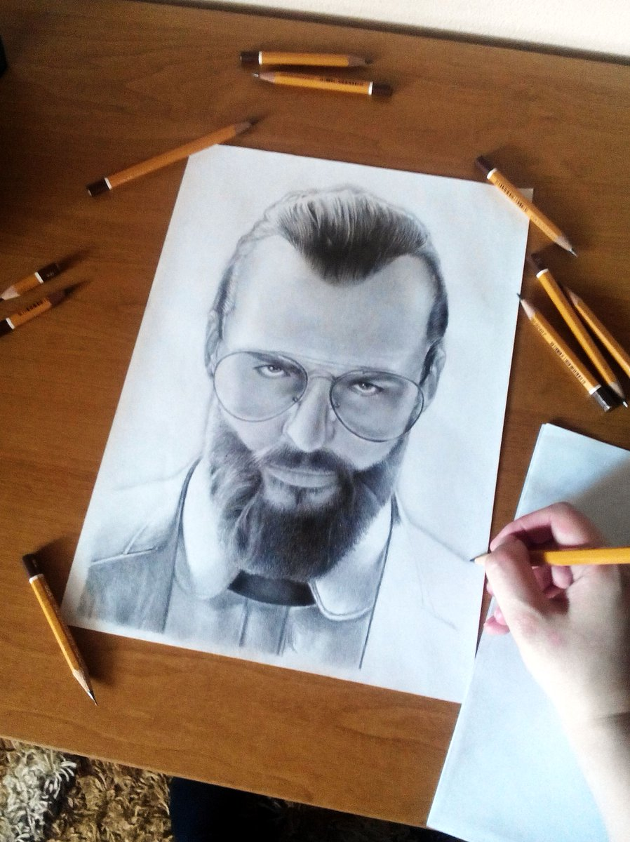 Joseph Seed (unfinished)  #drawing #unfinishedversion #josephseed #farcry5 #ubisoft #portrait #traditionalart #pencil #art #kresba<br>http://pic.twitter.com/OE2O1tAAHg