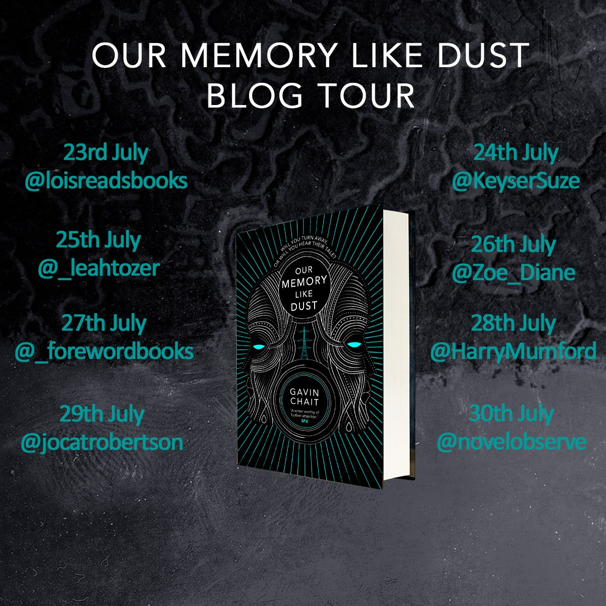 Tune in for the #OurMemoryLikeDust blog tour, starting today with @loisreadsbooks! https://t.co/ub5tyF1DrO