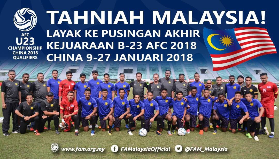 Well done Malaysia U23 for finishing as winners of Group H and have qu...