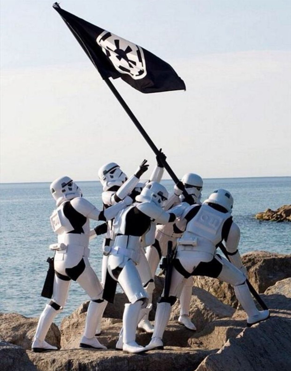 PLANTING OUR FLAG ON ANOTHER PLANET... #TK007 #StarWars <br>http://pic.twitter.com/uy4E68thtb