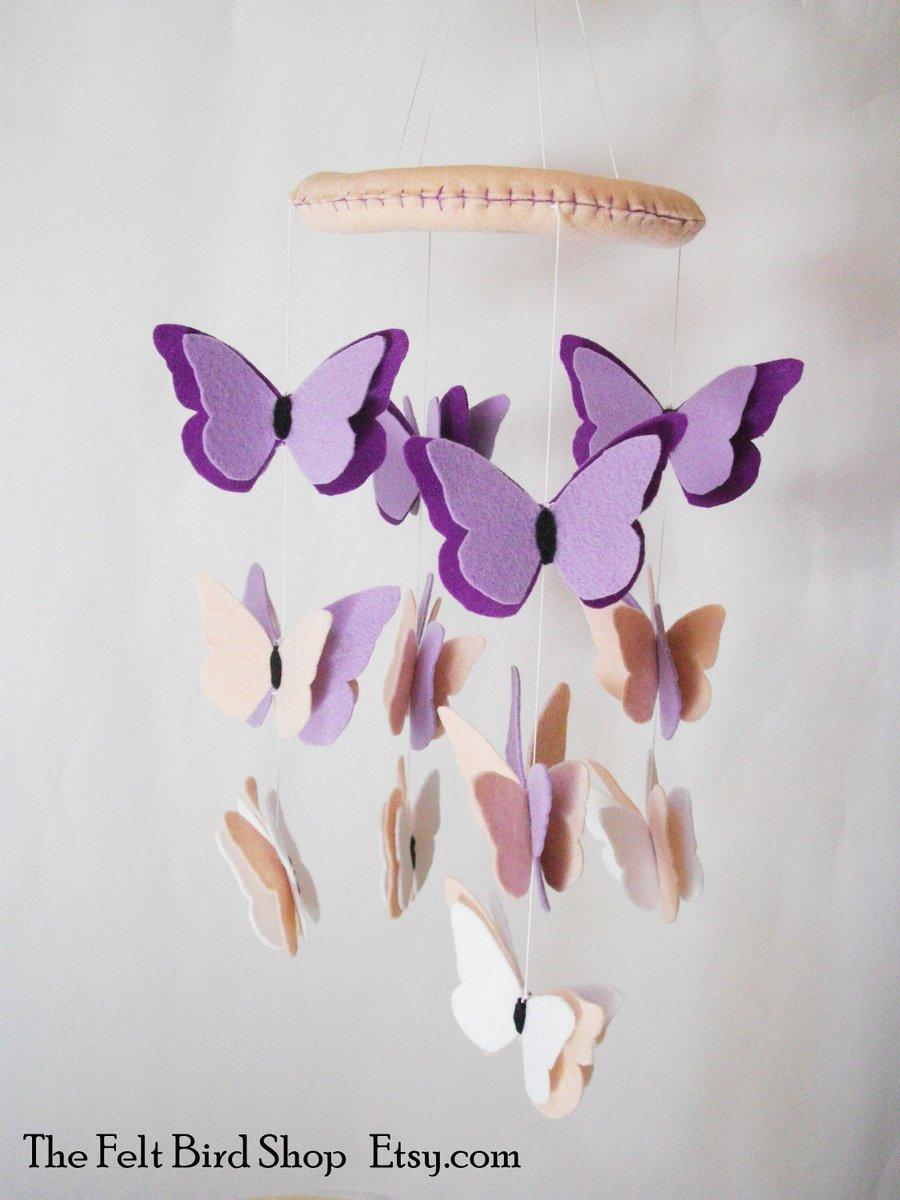 Felt Baby Mobile with Butterflies!!  http:// etsy.me/2ts7hjm  &nbsp;   via @Etsy #Butterfly #BabyShower #ShoppersHour<br>http://pic.twitter.com/P4Oc0hj69L