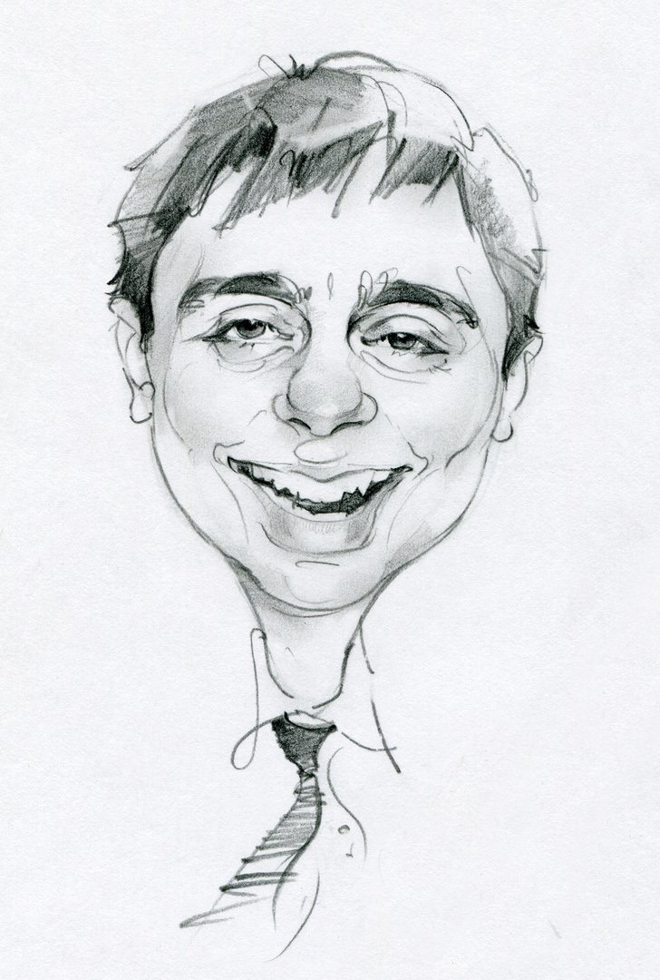 Сенбернарами, рисунок смешного лица человека