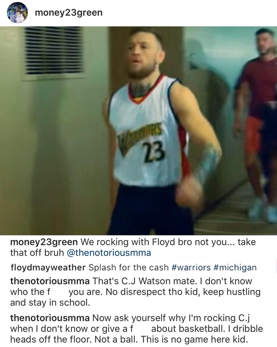 Draymond Green posted about Conor McGregor... and Conor clapped back.
